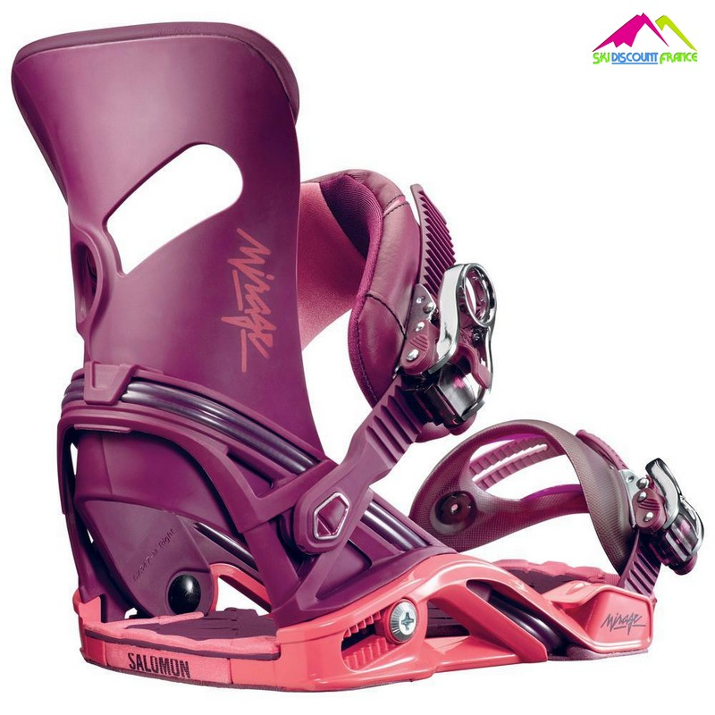 fixations de snowboard salomon mirage shadow purple