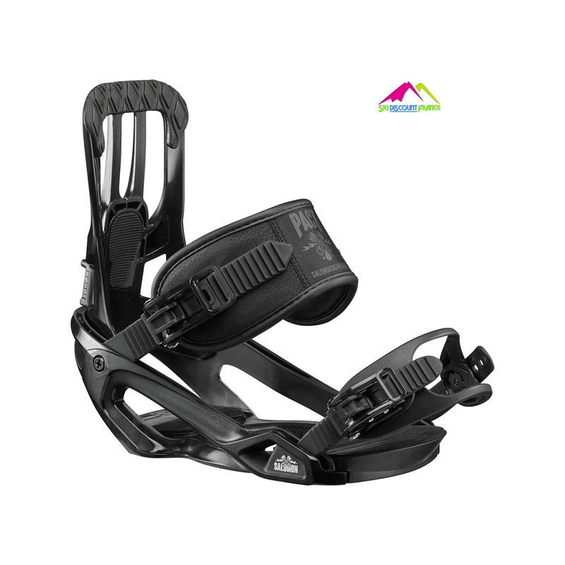 fixation de snowboard noires salomon pact black m
