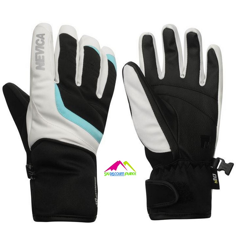 Gants de ski junior chaud nevica vail white blue