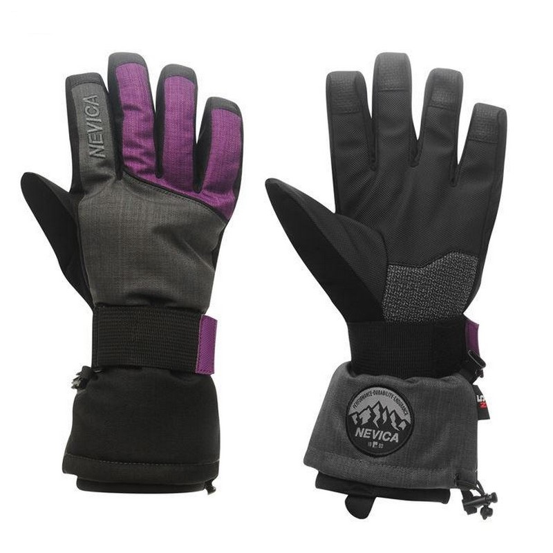 gants de ski femme nevica boost glove black purple