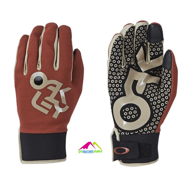 Gants de Ski Freestyle Oakley Factory Pilot Burnt Henna Taille XXL