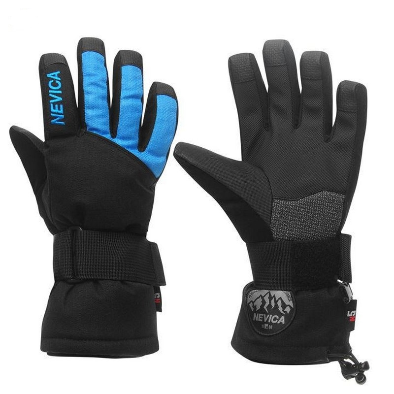 gants de ski junior nevica boost glove black blue