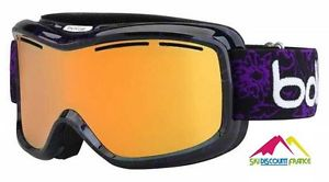 Masque de ski femme pas cher bolle monarch black and purple flowers
