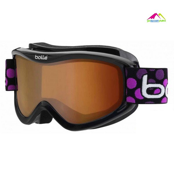 masque de ski enfant bolle volt kids black dots