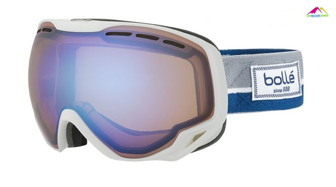 masque de ski homme bolle emperor white and blue etnic aurora