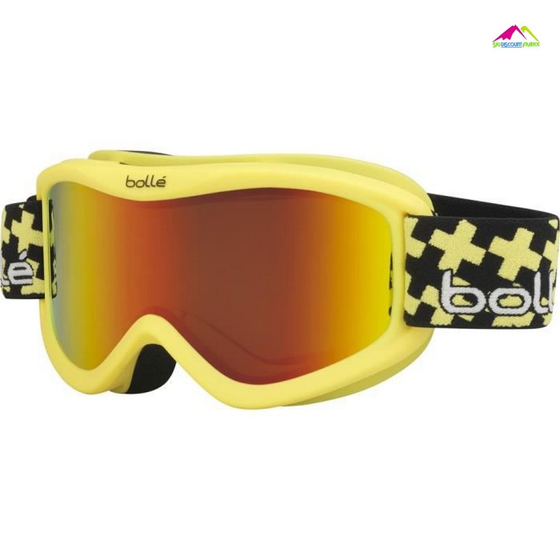 masque de ski junior tout temps bolle volt plus matte yellow cross sunrise
