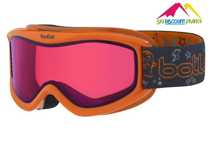Masque de ski junior pas cher Neuf Bollé AMP Orange Monster Citrus Dark Junior