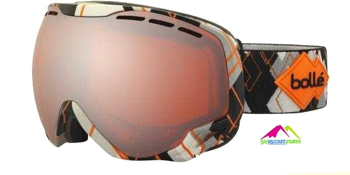 Masque de ski sans contour bolle emperor grey and orange argile s3