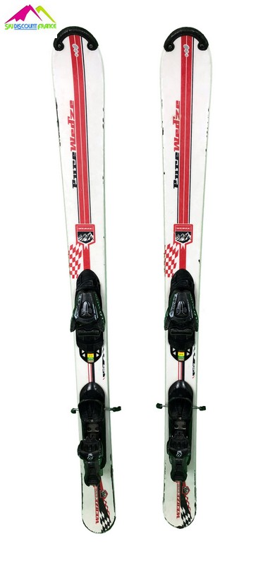 mini ski wedze blanc trait rouge