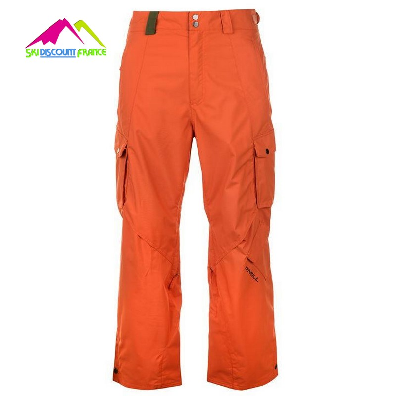Pantalon de ski homme chaud oneill exa pant burn och orange