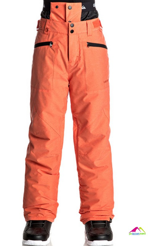 pantalon de ski enfant quiksilver boundry youth mandarin red