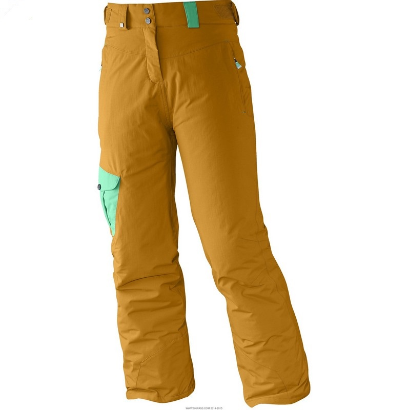 pantalon de ski salomon sashay yellow stone jr