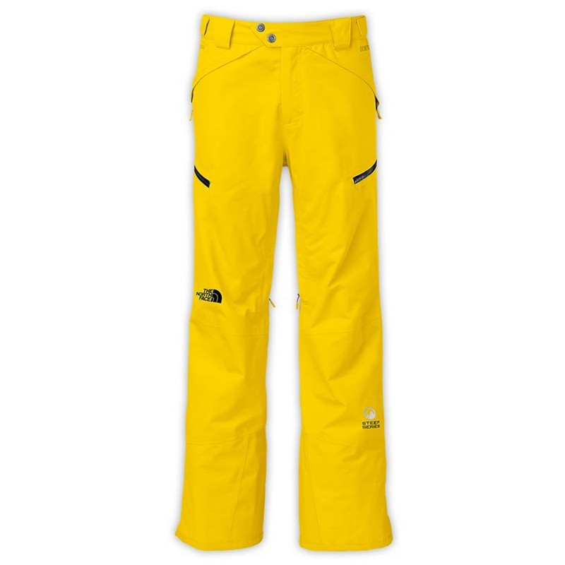 pantalon de ski homme the north face nfz pant yellow