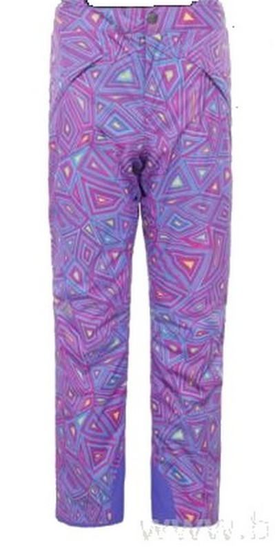 pantalon de ski fille the north face snowquest lilla geoprint