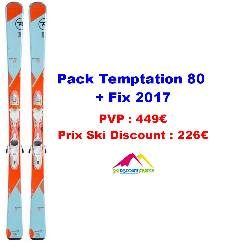 Ski Test Rossignol Temptation 80 Adulte