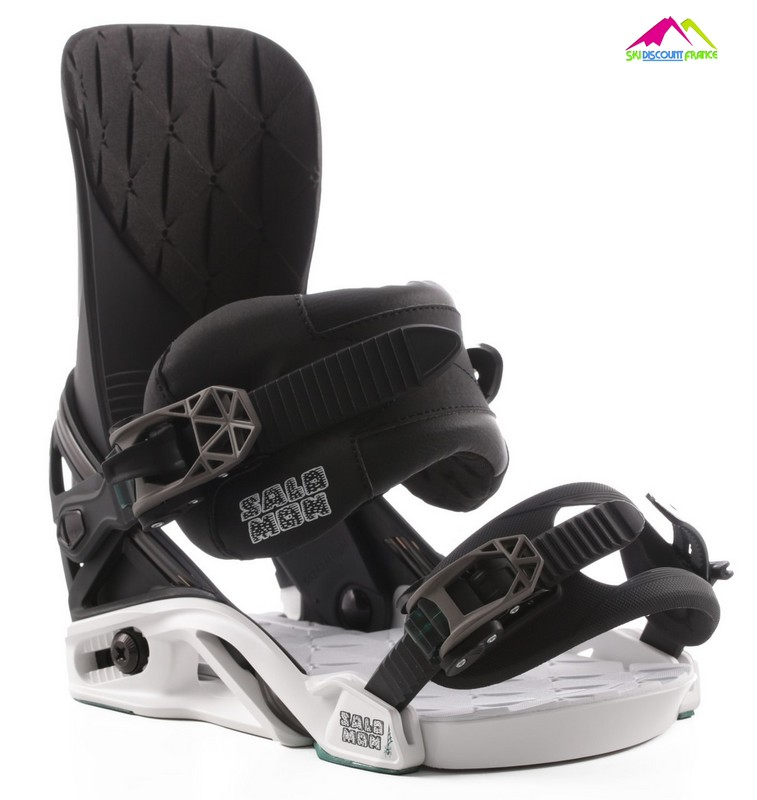 Fixations de snowboard haut de gamme salomon district shadow white 2017