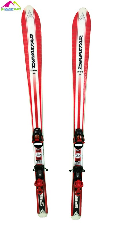 ski occasion enfant dynastar speed rouge blanc