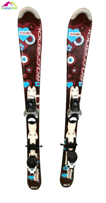 ski enfant occasion rossignol fun girl marron