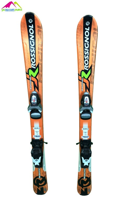 ski junior occasion rossignol radical orange