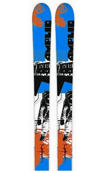 ski freestyle pas cher amplid town ship orange bleu