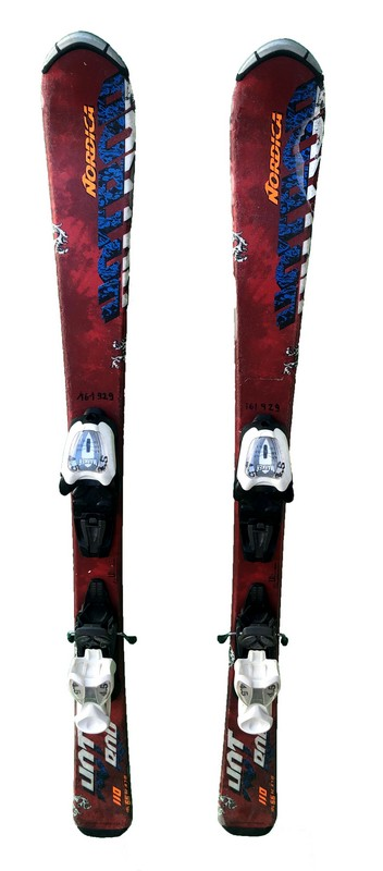 ski junior occasion nordica hotrod bleu bordeaux