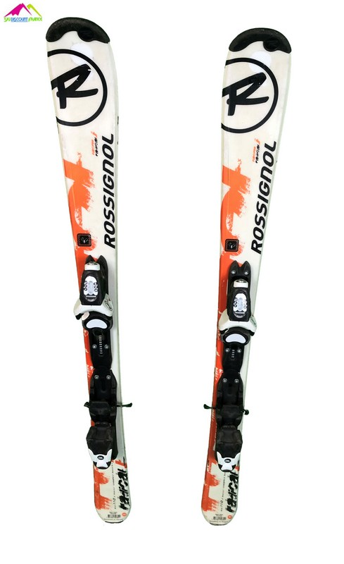 ski junior occasion rossignol radical orange blanc large