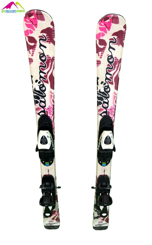 ski junior occasion salomon jade beige rose