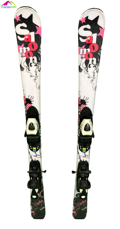 ski junior occasion salomon jade noir blanc rose