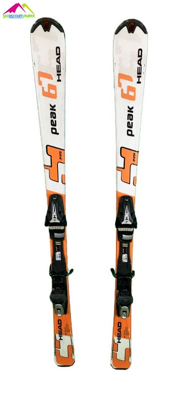 ski occasion head peak 67 blanc orange
