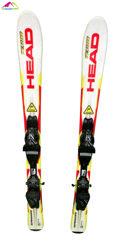 ski enfant occasion head supershape teamjaune