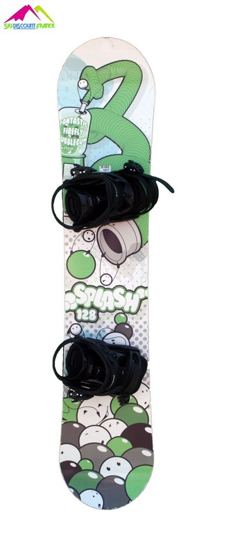 snowboard enfant occasion firefly splash green/grey