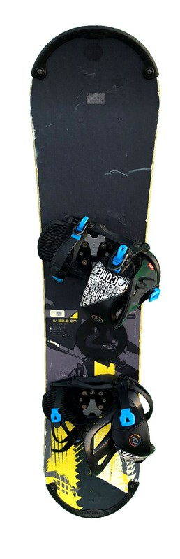 snowboard enfant occasion head concept black yellow