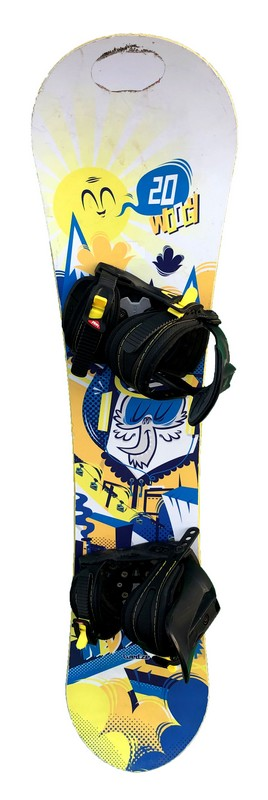 snowboard enfant occasion wedze woogy yellow white