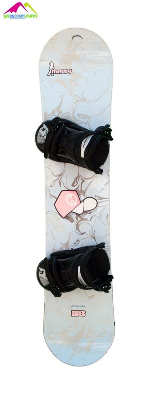 Snowboard enfant occasion crazy creek missy grey/pink