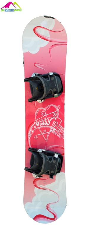 snowboard junior occasion crazy creek missy white pink