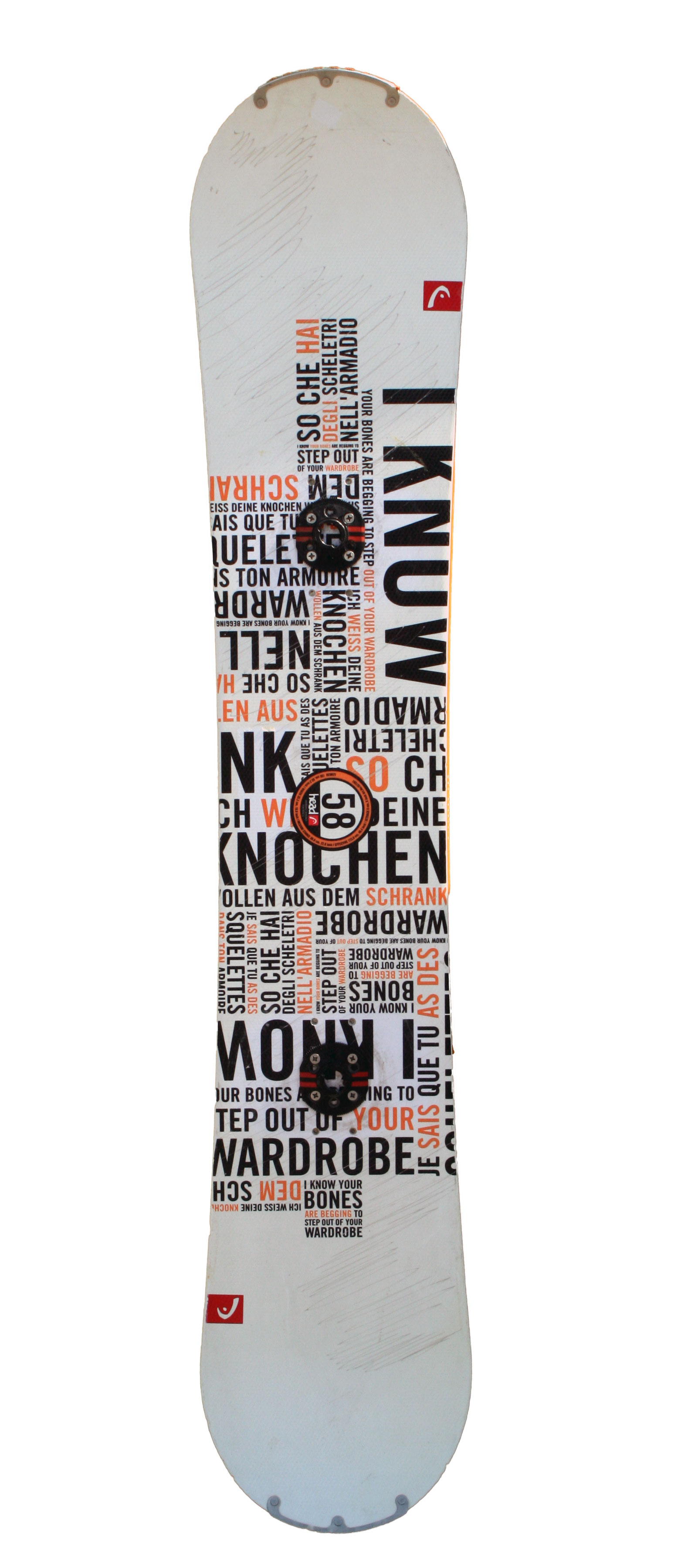 snowboard occasion head white orange