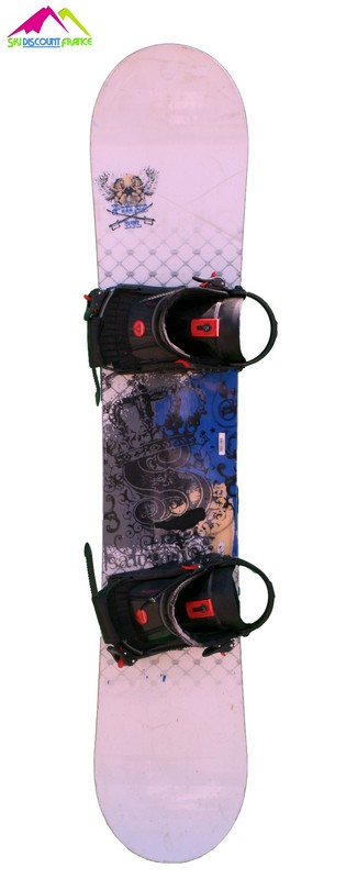 snowboard occasion salomon pulse rtl white blue epee