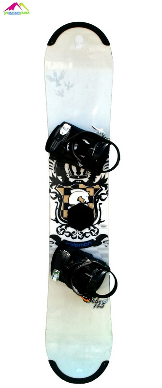 snowboard occasion salomon pulse rtl white cheval