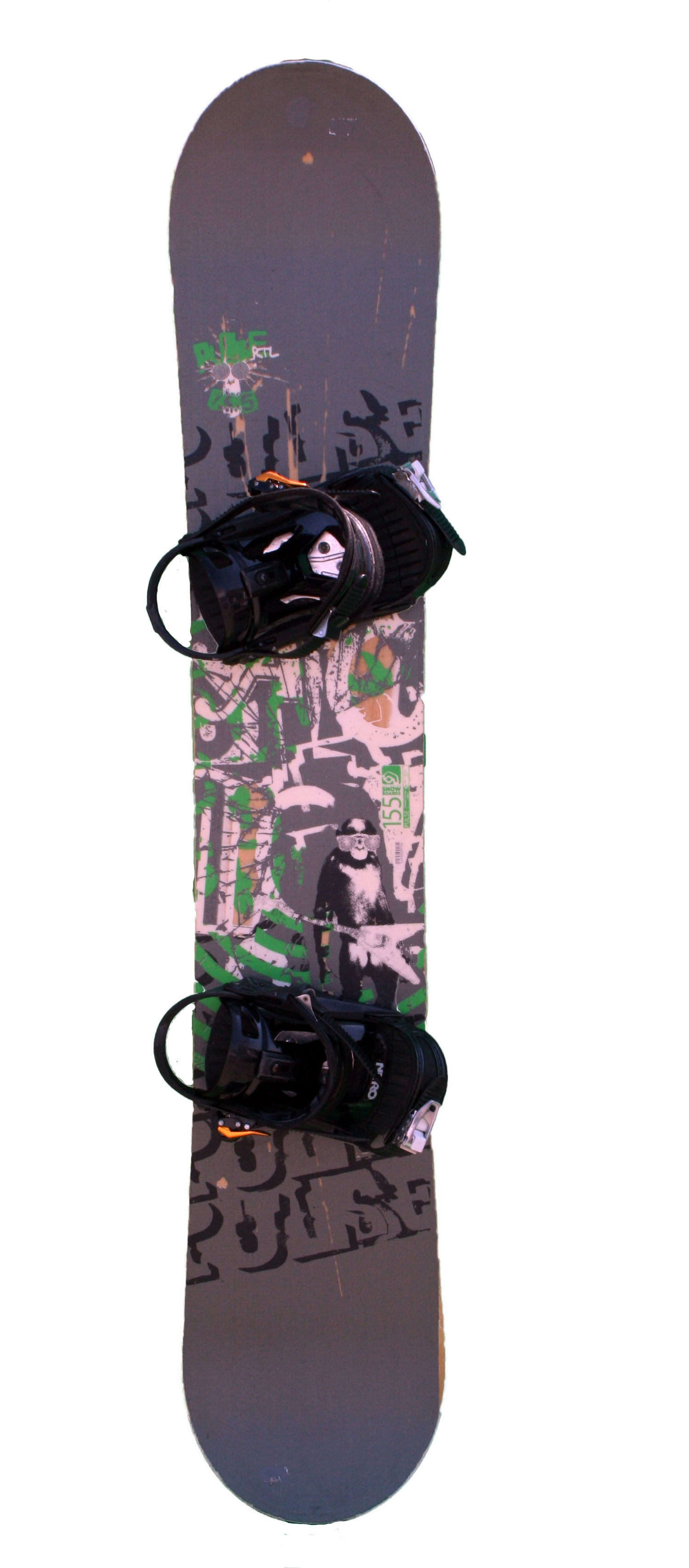 snowboard occasion salomon pulse rtl grey green