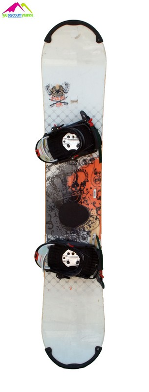Snowboard occasion salomon pulse rtl white orange epee