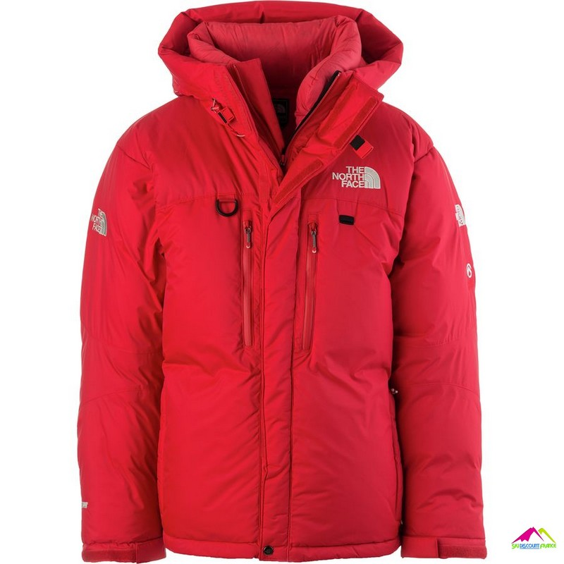 the north face himalayan parka red