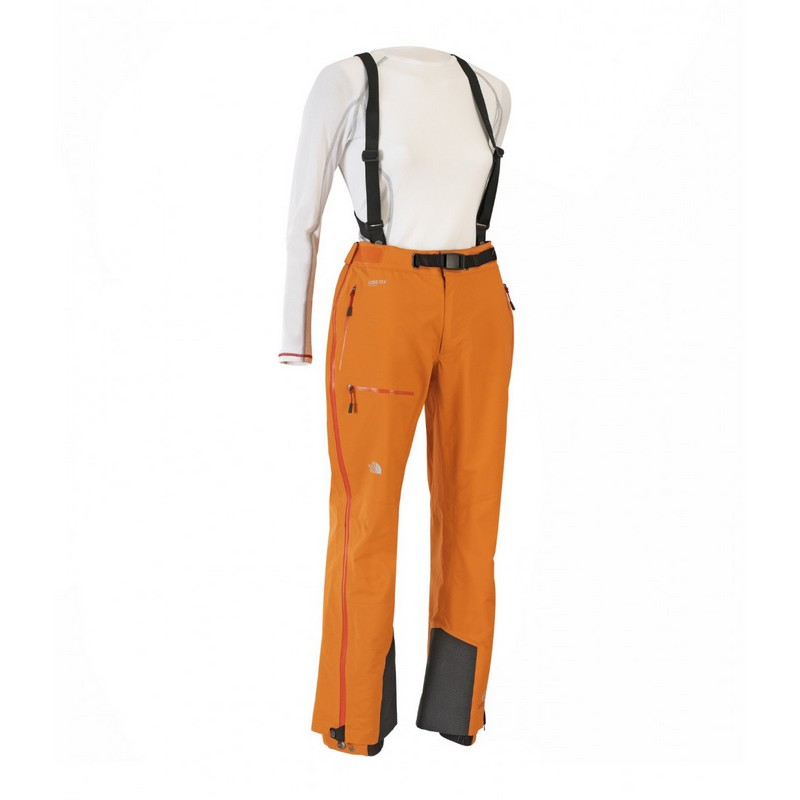 pantalon de ski femme the north face w point five ng pant orange