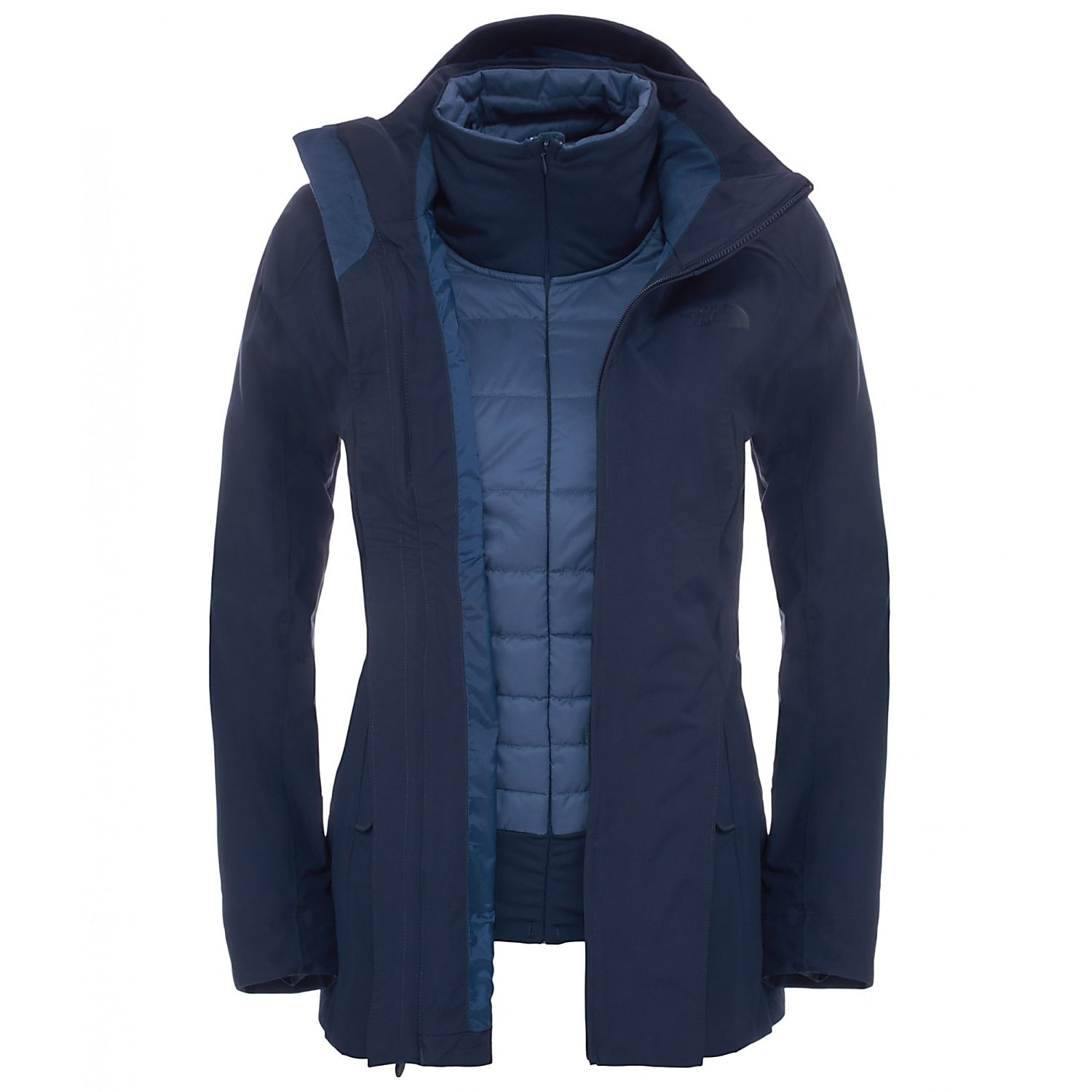 the north face brownood triclimate urban navy