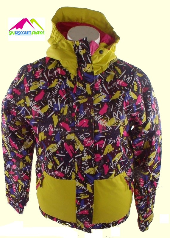 Veste de ski neuve Billabong Sally Acid Yellow Junior Fille