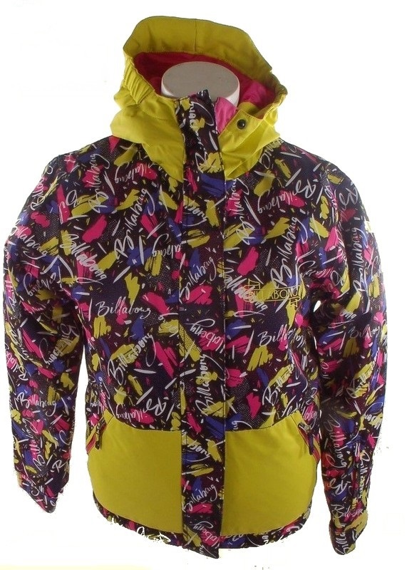 veste de ski fille billabong sally acid yellow