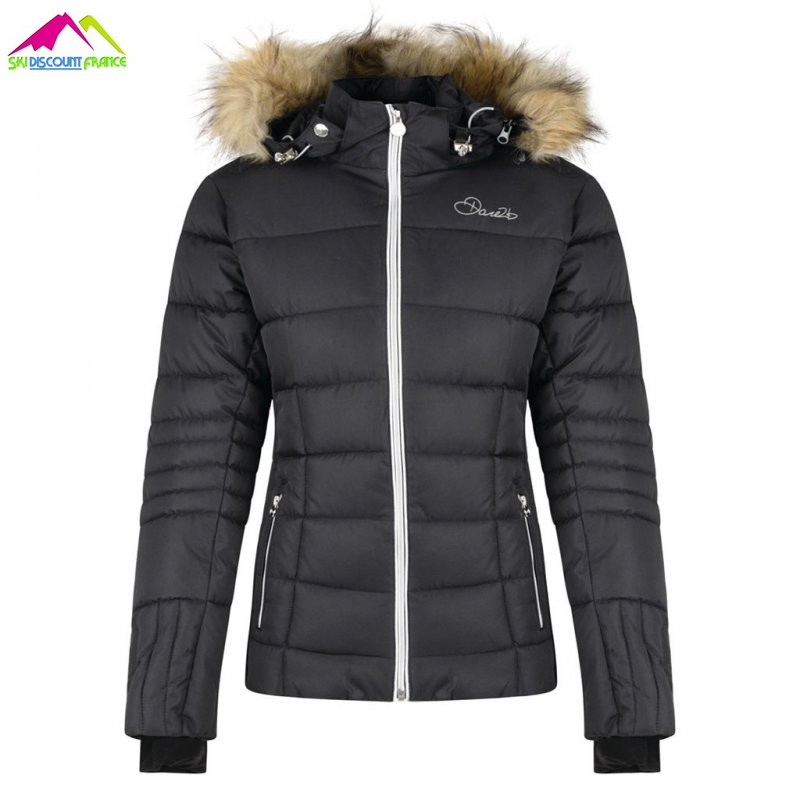 Veste de ski femme fourrure dare 2b cultivated jacket black