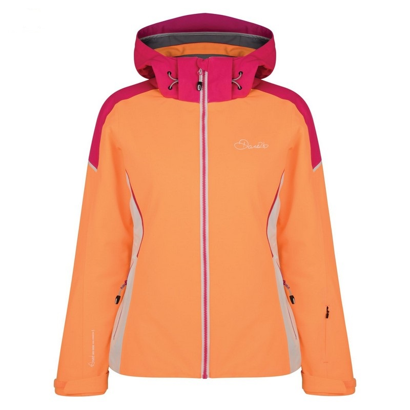 veste de ski femme dare 2b contrive orange burst pink