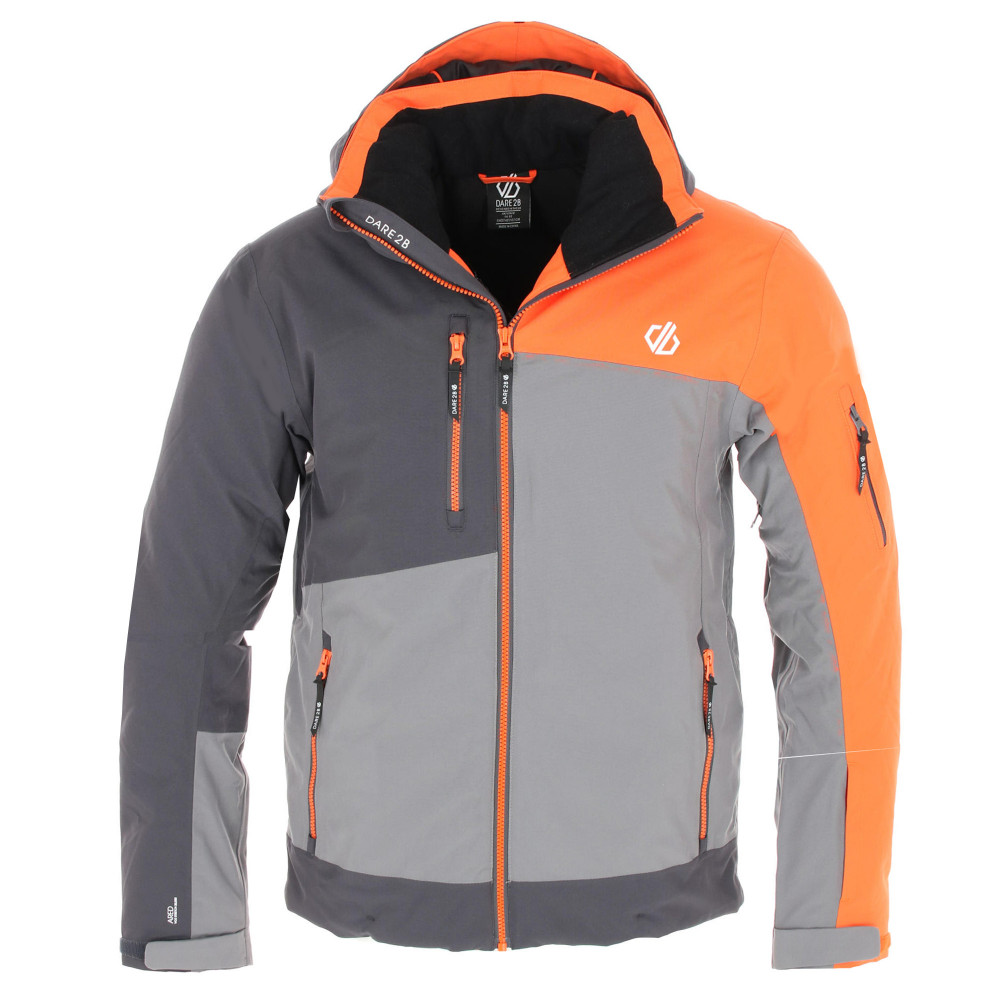 veste de ski technique homme dare 2b travail pro jkt orange grey
