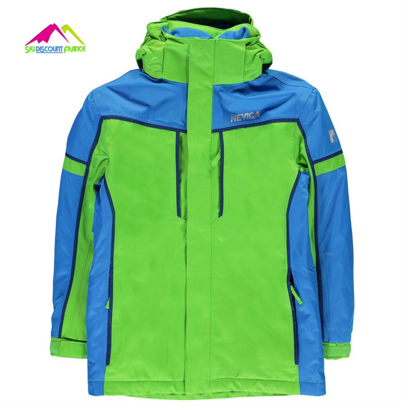 Veste de ski Junior Nevica Meribel Green Blue 11/12ans et 13ans