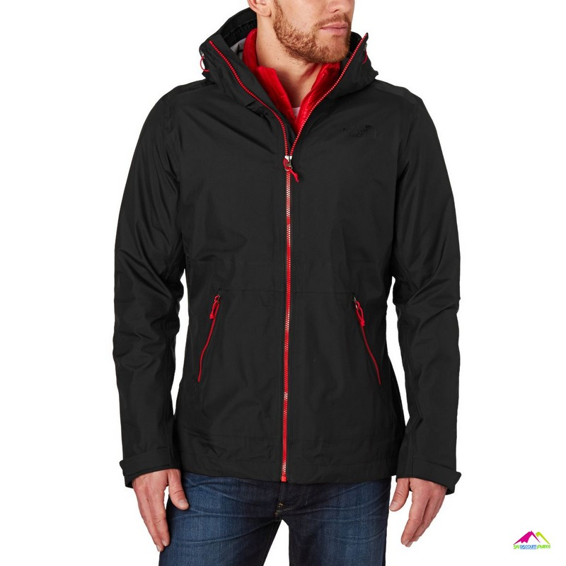 the north face biston quadriclimate black red